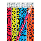 Jungle & Safari Favors & Prizes Neon Animal Print Pencils Image