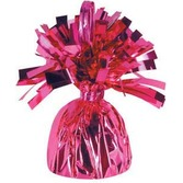 Valentine's Day Balloons Hot Pink Metallic Balloon Weight Image
