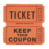 Tickets & Wristbands Orange Double Ticket Roll Image