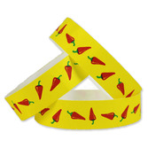 Cinco de Mayo WB Tyvek Wristbands Chili Peppers Image