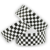 WB Tyvek Wristbands Black-White Checkerboard Image
