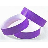 WB Tyvek Wristbands Purple Image