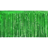 St. Patrick's Day Decorations Green Metallic Fringe Drape Image