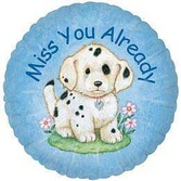 Balloons Miss You Puppy Image