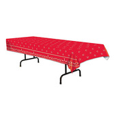 Western Table Accessories Red Bandana Tablecover Image