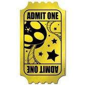 Awards Night & Hollywood Decorations Foil Golden Ticket Image