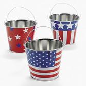 4th of July Favors & Prizes Metal Patriotic Pail Image