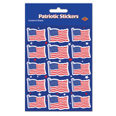 4th of July Favors & Prizes U.S. Flag Stickers Image