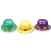Mardi Gras Hats & Headwear Mardi Gras Plastic Derby Image