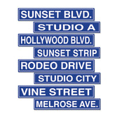 Awards Night & Hollywood Decorations Hollywood Street Sign Cutouts Image