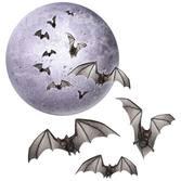 Halloween Decorations Moon & Bat Cutouts Image