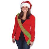 "Christmas Party Wear ""Santa's Helper"" Satin Sash Image"