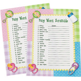 Baby Shower Decorations Baby Word Scramble Game Image