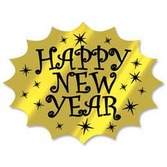 New Years Decorations Gold Happy New Year Cutout Image