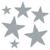 Decorations Silver Glittered Stars Image
