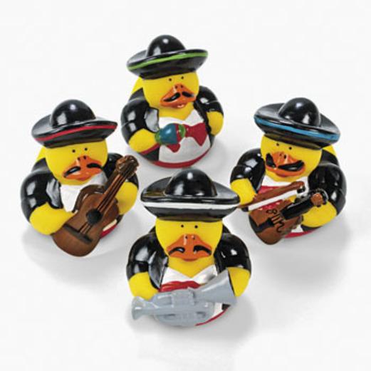 Cinco de Mayo Favors & Prizes Mariachi Rubber Duckies Image