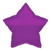 New Years Balloons Purple Star Mylar Balloon Image