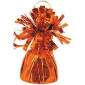 Halloween Balloons Orange Metallic Balloon Weight Image