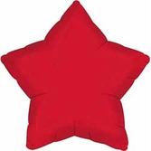New Years Balloons Red Star Mylar Balloon Image