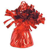 Valentine's Day Balloons Red Metallic Balloon Weight Image