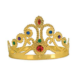 Hats & Headwear Gold Plastic Jeweled Tiara Image