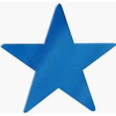 "4th of July Decorations 9"" Blue Foil Star Image"