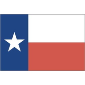 "Western Decorations 4"" X 6"" Texas Cotton Flag Image"