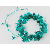 Luau Decorations Teal Star Wire Garland Image