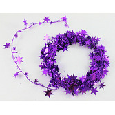 Mardi Gras Decorations Purple Star Wire Garland Image
