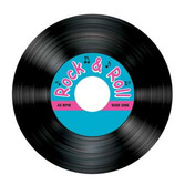 Fifties Table Accessories Rock & Roll Coasters Image