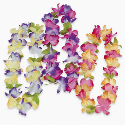 Luau Party Wear Mahalo Flower Lei Image