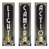 Awards Night & Hollywood Decorations Lights Camera Action Cutouts Image