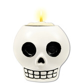 Day of the Dead Decorations Skull Tea Light Holder Image