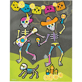 Day of the Dead Favors & Prizes Day of the Dead Sticker Scenes Image
