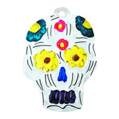 Day of the Dead Decorations Sugar Skull Tin Ornament Image