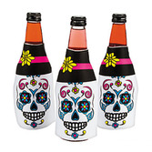 Day of the Dead Table Accessories Foam Day of Dead Bottle Covers Image