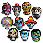 Day of the Dead Decorations Mini Day of the Dead Cutouts Image