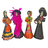 Day of the Dead Decorations Day of the Dead Paper Mache Skeleton Image