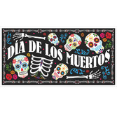 Day of the Dead Decorations DOD Plastic Banner Image