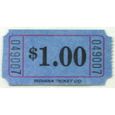Tickets & Wristbands Blue Dollar Ticket Roll Image