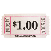 Tickets & Wristbands White Dollar Ticket Roll Image