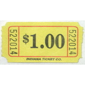 Tickets & Wristbands Yellow Dollar Ticket Roll Image