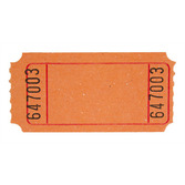 Tickets & Wristbands Orange Blank Ticket Roll Image