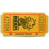 Tickets & Wristbands Yellow Beer Ticket Roll Image