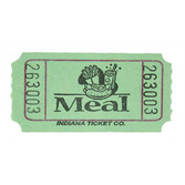 Tickets & Wristbands Green Meal Ticket Roll Image