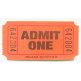 Tickets & Wristbands Orange Admit One Ticket Roll Image