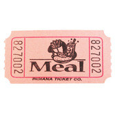 Tickets & Wristbands Pink Meal Ticket Roll Image