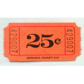 Tickets & Wristbands Orange 25 Cent Ticket Roll Image
