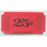 Tickets & Wristbands Red 25 Cent Ticket Roll Image