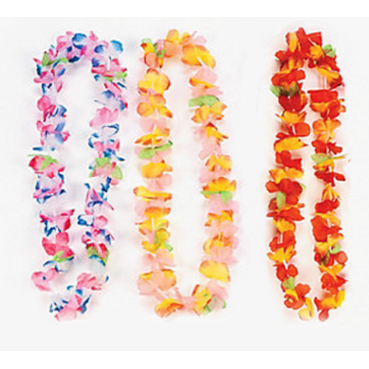 Luau Party Wear Ruffle Petal Flower Lei Image
